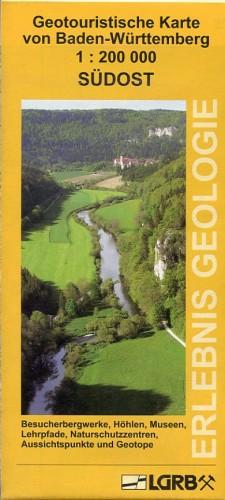 Geotouristische Karte, Baden-Württemberg Südost.