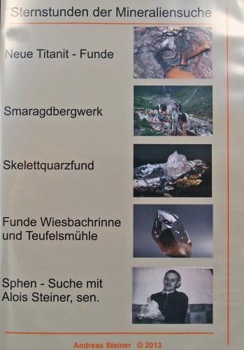DVD - Sternstunden der Mineraliensuche, Familie Steiner