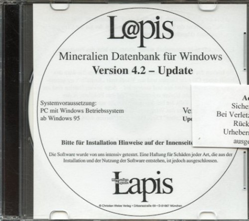 Lapis-Datenbank 4.4 - Updateversion von 4.0 u. 4.1
