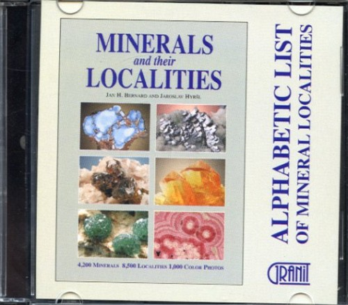 Alphabetic List of Mineral Localities, Bernard, J. & Hyrsl, L.