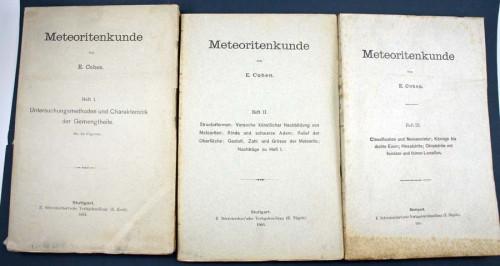 COHEN, E. - Meteoritenkunde