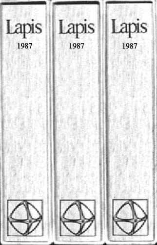 Lapis Sammelmappe 1987