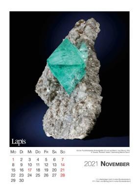 Mineralien 2021 - Der große Lapis Bild & Wandkalender
