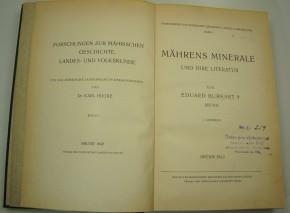 BURKART E. - Mährens Minerale und ihre Literatur.