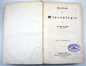 QUENSTEDT, FR. AUG. – Handbuch der Mineralogie