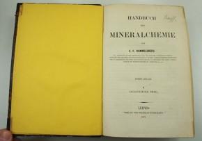 RAMMELSBERG, C. F. - Handbuch der Mineralchemie
